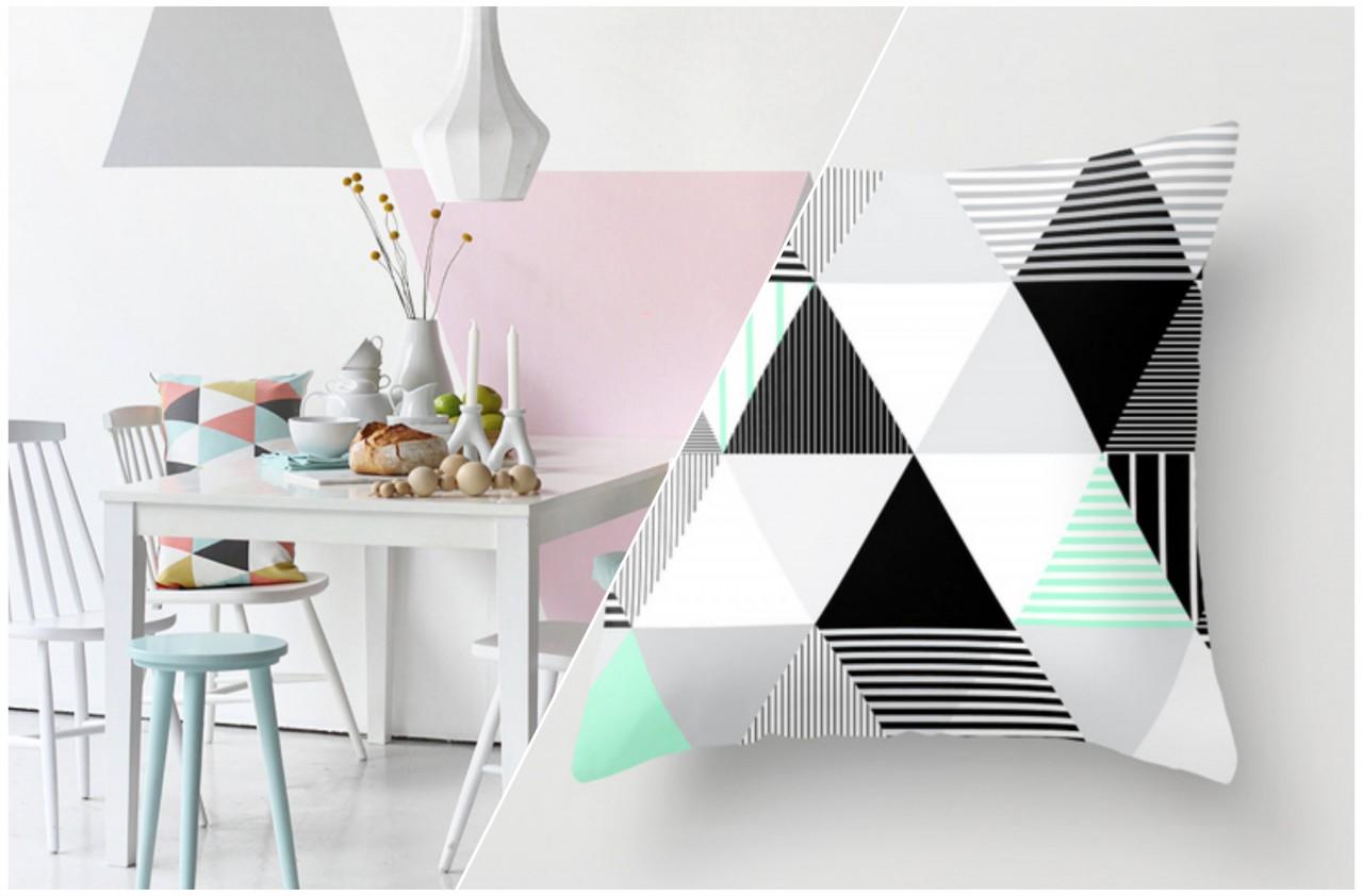 Wohnen dreieckiges und pastellfarben kooye - Pastellfarben wand ...