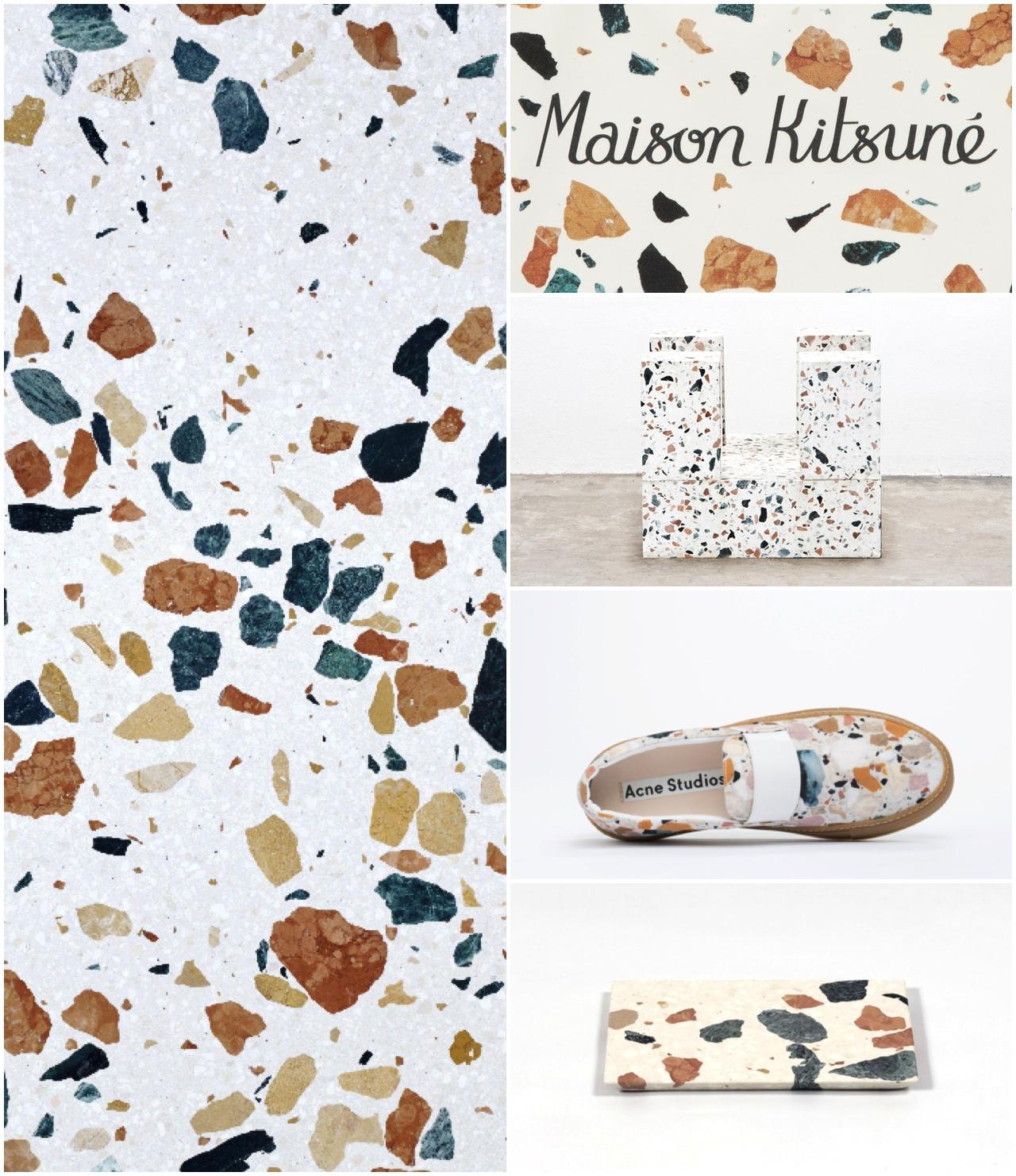 antike trifft memphis trifft marmor terrazzo ber das begehrte muster kooye. Black Bedroom Furniture Sets. Home Design Ideas